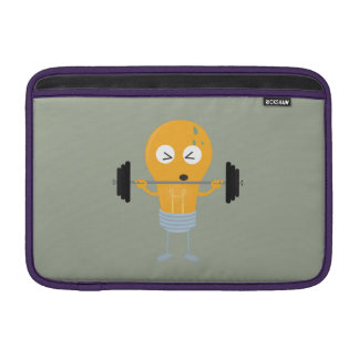 Fitness light bulb with weight MacBook sleeve