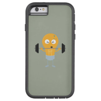 Fitness light bulb with weight tough xtreme iPhone 6 case