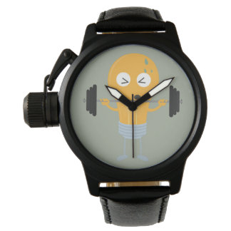 Fitness light bulb with weight wrist watch