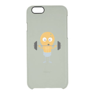 Fitness light bulb with weight Z1zu3 Clear iPhone 6/6S Case