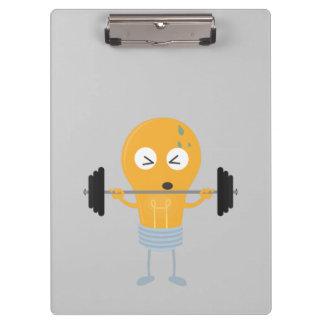 Fitness light bulb with weight Z1zu3 Clipboard