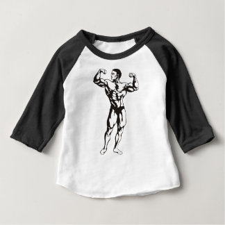 Fitness Man Muscles Baby T-Shirt