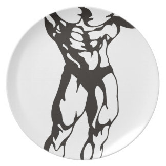 Fitness Man Muscles Plate