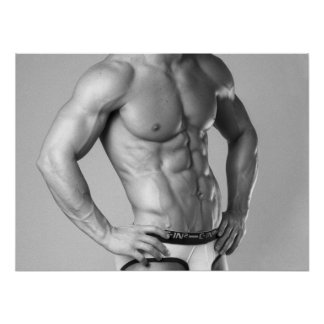 Fitness Model Abs Poster #100