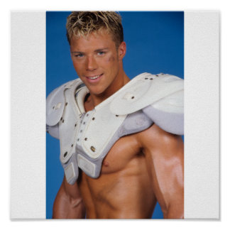 Fitness Model Football Player Poster