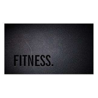 Fitness Modern Bold Text Elegant Dark Professional Pack Of Standard Business Cards