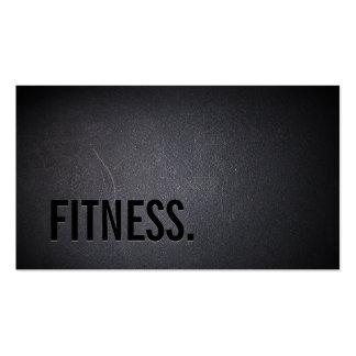 Fitness Modern Bold Text Elegant Dark Professional Pack Of Standard Business Cards