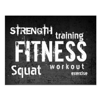 Fitness Personal Trainer Grunge Dark Professional Postcard