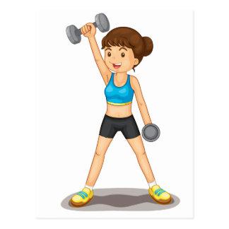 fitness postcard
