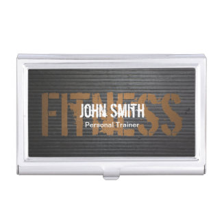 Fitness Professional Grunge Metal Personal Trainer Business Card Holder