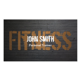 Fitness Professional Grunge Metal Personal Trainer Pack Of Standard Business Cards
