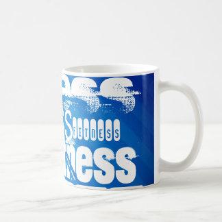 Fitness; Royal Blue Stripes Coffee Mug