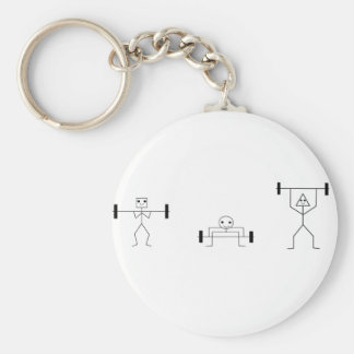 fitness shapes keychains