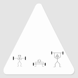 fitness shapes triangle sticker