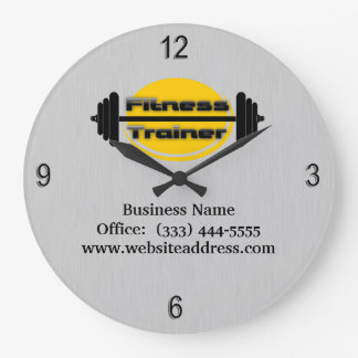 Fitness Trainer Barbell Wall Clock