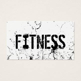 Fitness Trainer Bold Text Grunge Bodybuilding Business Card
