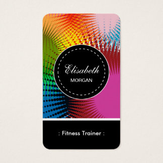 Fitness Trainer- Colorful Abstract Pattern Business Card