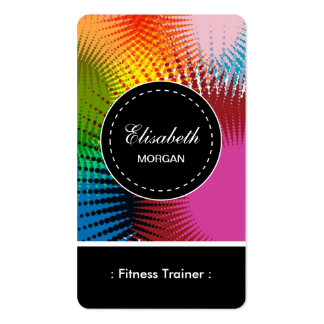 Fitness Trainer- Colorful Abstract Pattern Pack Of Standard Business Cards