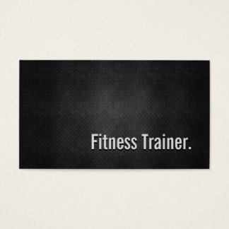Fitness Trainer Cool Black Metal Simplicity