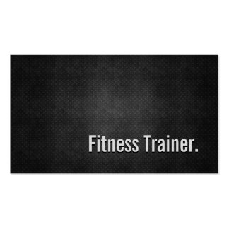 Fitness Trainer Cool Black Metal Simplicity Pack Of Standard Business Cards