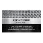 Fitness Trainer - Diamond Metal Plate Pack Of Standard Business Cards
