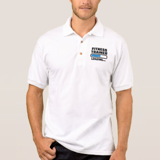 Fitness trainer loading polo shirt