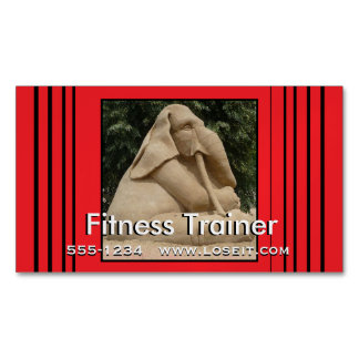 Fitness trainer 	Magnetic business card