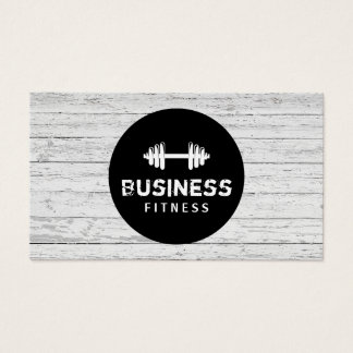 Fitness Trainer Modern Black Circle Wood Gym