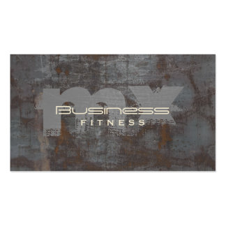 Fitness Trainer Monogram Grunge Background Rusty Pack Of Standard Business Cards