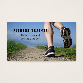 fitness trainer or jogging club business card