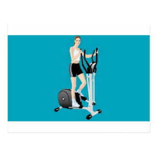 Fitness vector design postcard