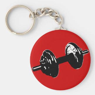 fitness weight keychain