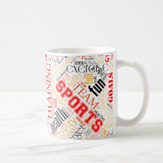 Fitness Word Cloud Red/Black ID284 Coffee Mug