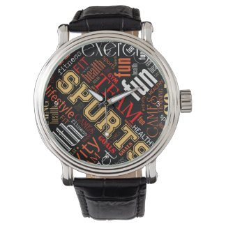 Fitness Word Cloud Red/White ID284 Watches