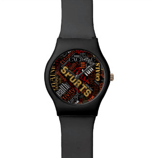 Fitness Word Cloud Red/White ID284 Wristwatch