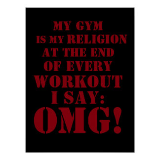 Fitness workout gym motivation cover poster