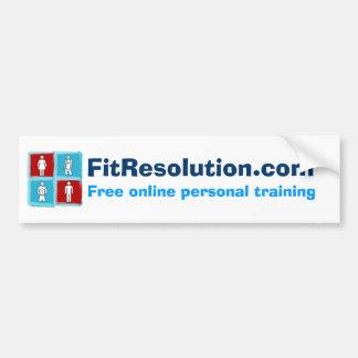 FitResolution - Bumper Sticker! Car Bumper Sticker