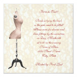 Fitting Bridal Shower 13 Cm X 13 Cm Square Invitation Card