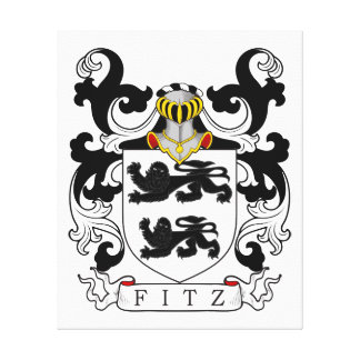 Fitz Coat of Arms IV Stretched Canvas Prints