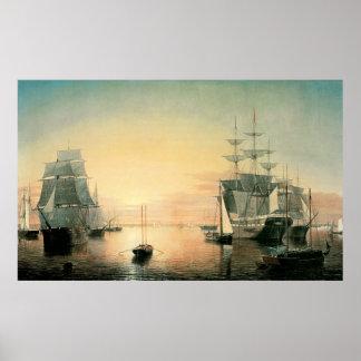 Fitz Hugh Lane Boston Harbor Posters