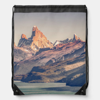 Fitz Roy and Poincenot Andes Mountains - Patagonia Drawstring Bag