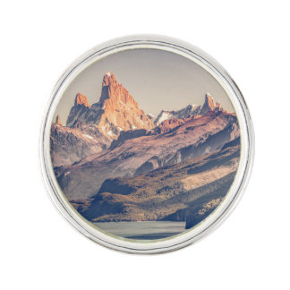 Fitz Roy and Poincenot Andes Mountains - Patagonia Lapel Pin