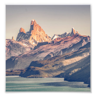 Fitz Roy and Poincenot Andes Mountains - Patagonia Photo Print