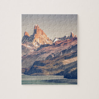 Fitz Roy and Poincenot Mountains Patagonia Jigsaw Puzzle