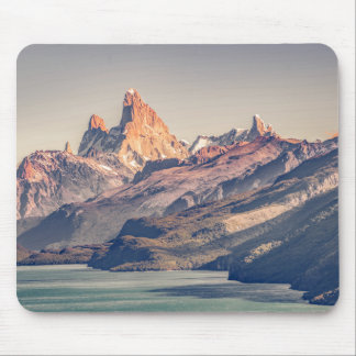 Fitz Roy and Poincenot Mountains Patagonia Mouse Pad