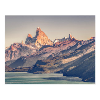 Fitz Roy and Poincenot Mountains Patagonia Postcard