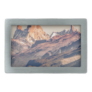 Fitz Roy and Poincenot Mountains Patagonia Rectangular Belt Buckle