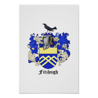 Fitzhugh Family Heraldry Poster 1
