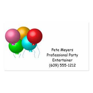 Five Birthday Balloons Pack Of Standard Business Cards