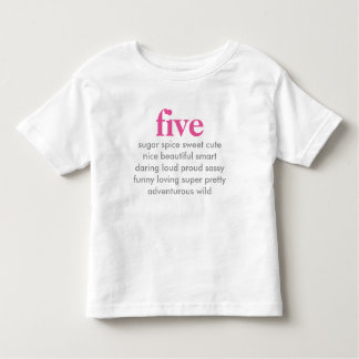 five birthday shirt